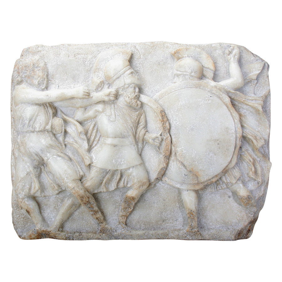 Greek Hoplites in Battle - Plaque