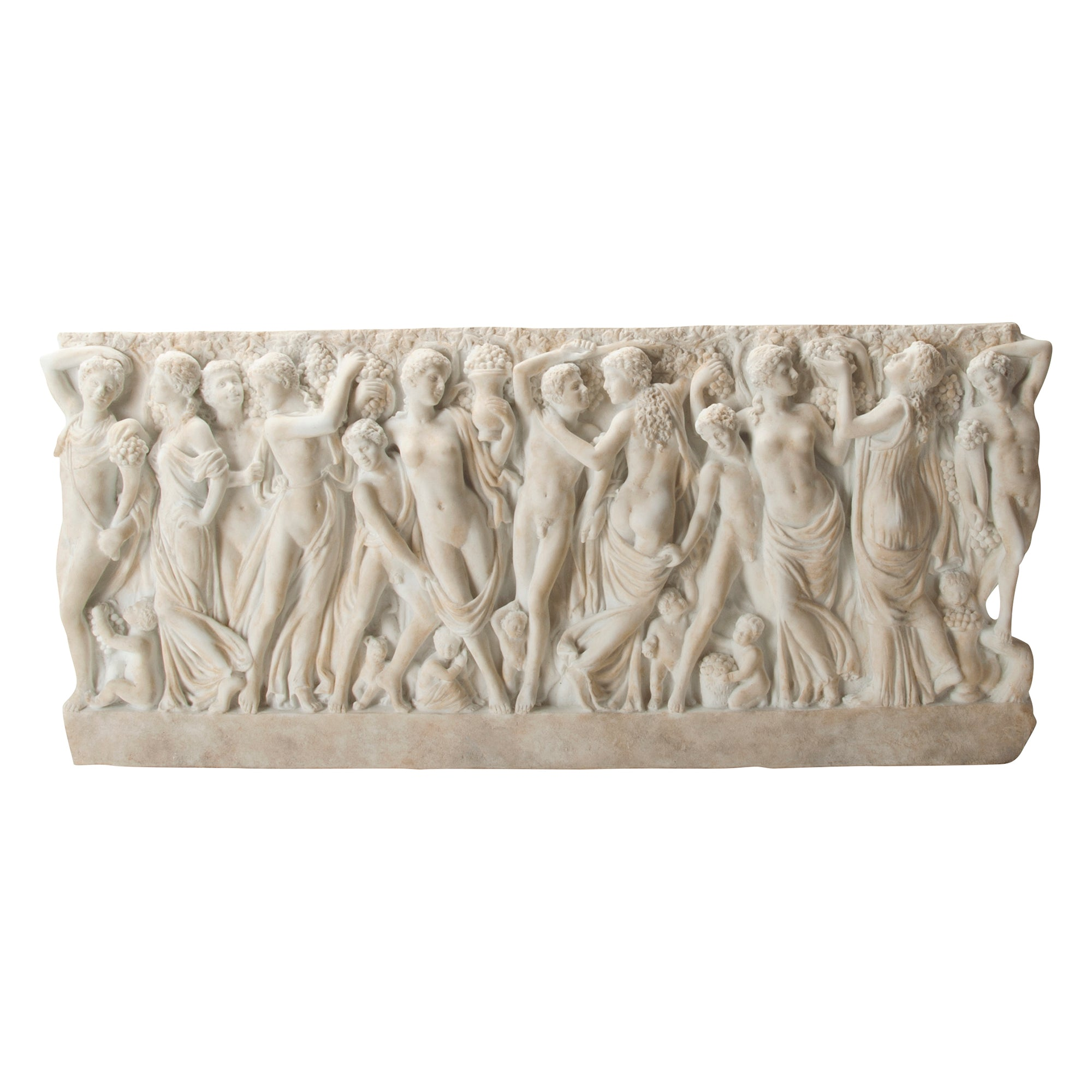 Farnese Sarcophagus with Revelers Gathering Grapes - Plaque | Getty Store