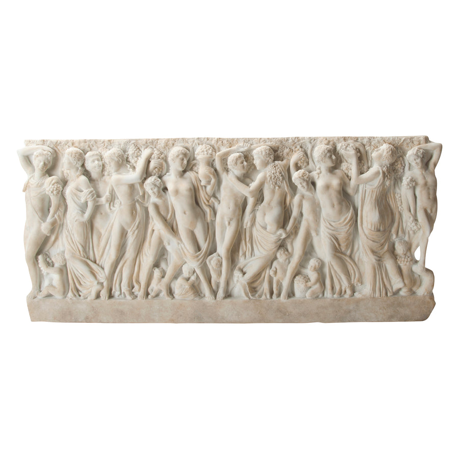 Farnese Sarcophagus with Revelers Gathering Grapes - Plaque