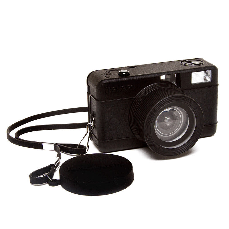 Black Compact Fisheye Camera