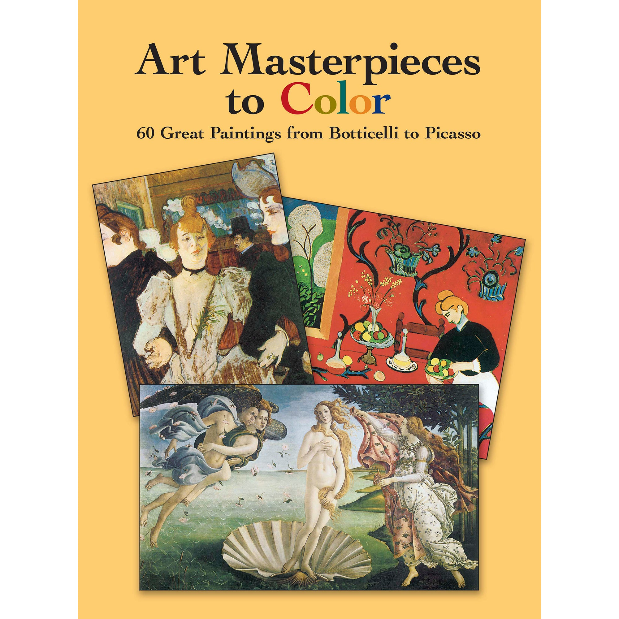Art Masterpieces to Color- Coloring Book | Getty Store