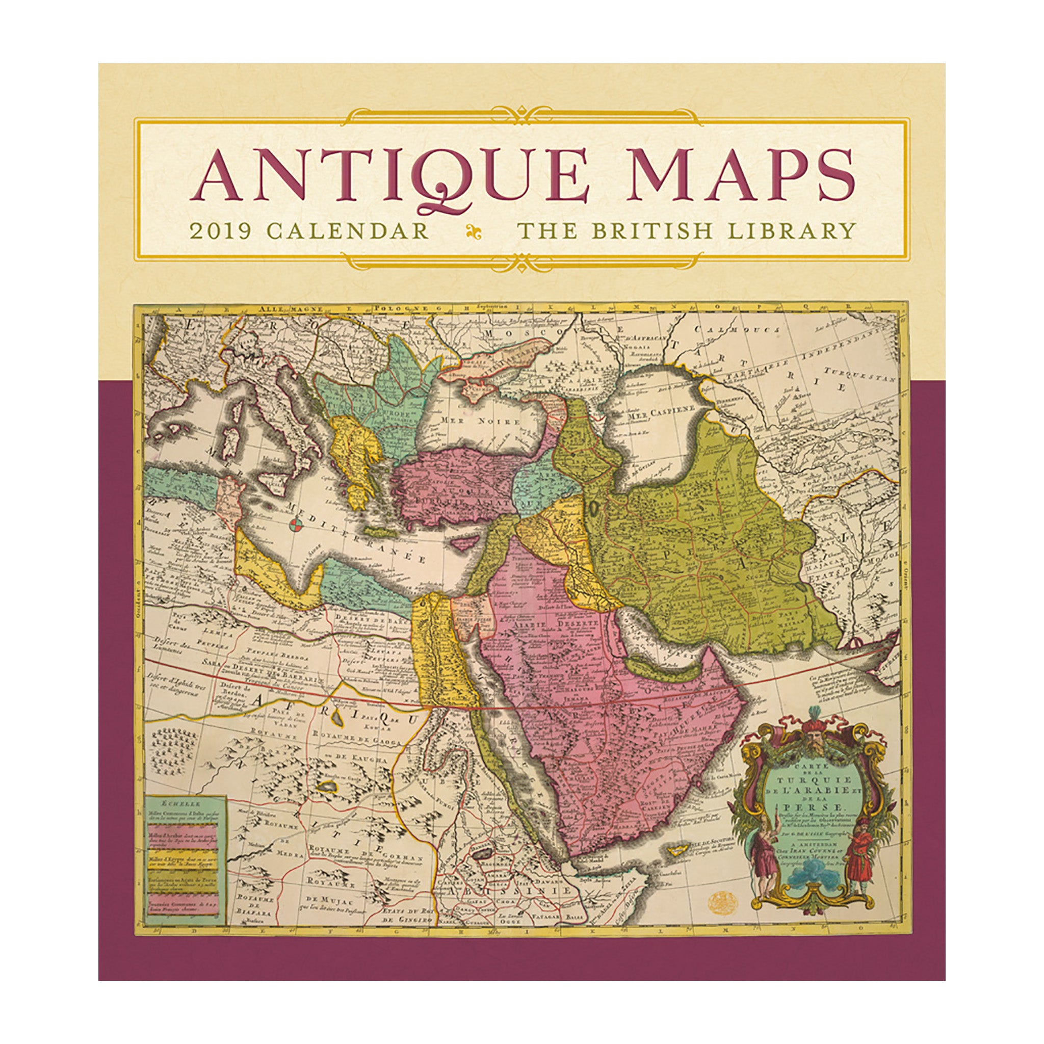 2019 wall calendar antique maps the getty store 2019 wall calendar antique maps gumiabroncs Images