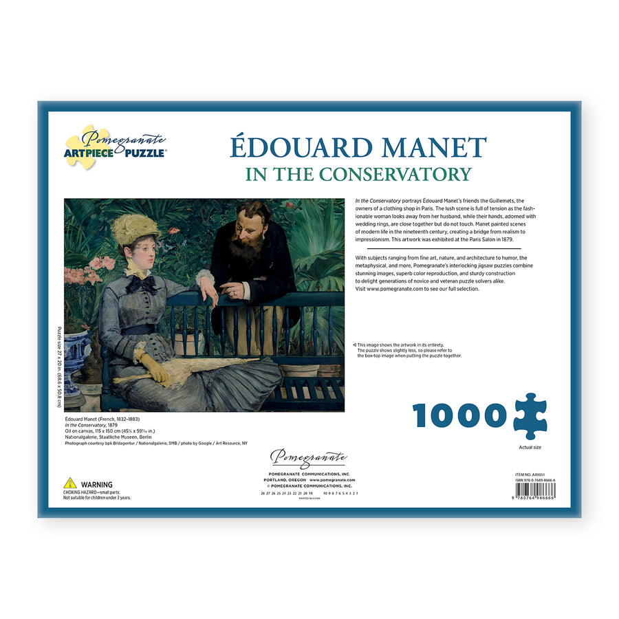 1000 Piece Puzzle - Manet's <i>In the Conservatory</i>