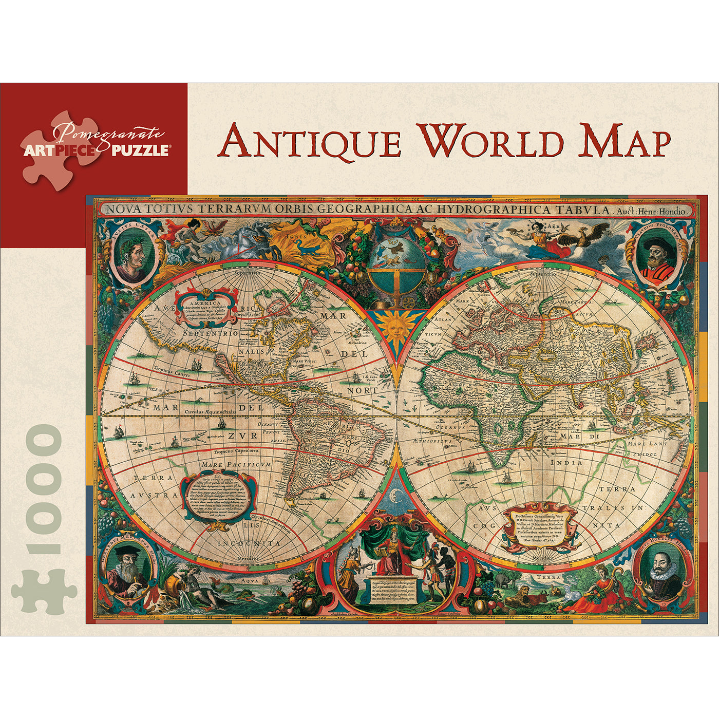 Antique World Map Puzzle - 1,000 Pieces