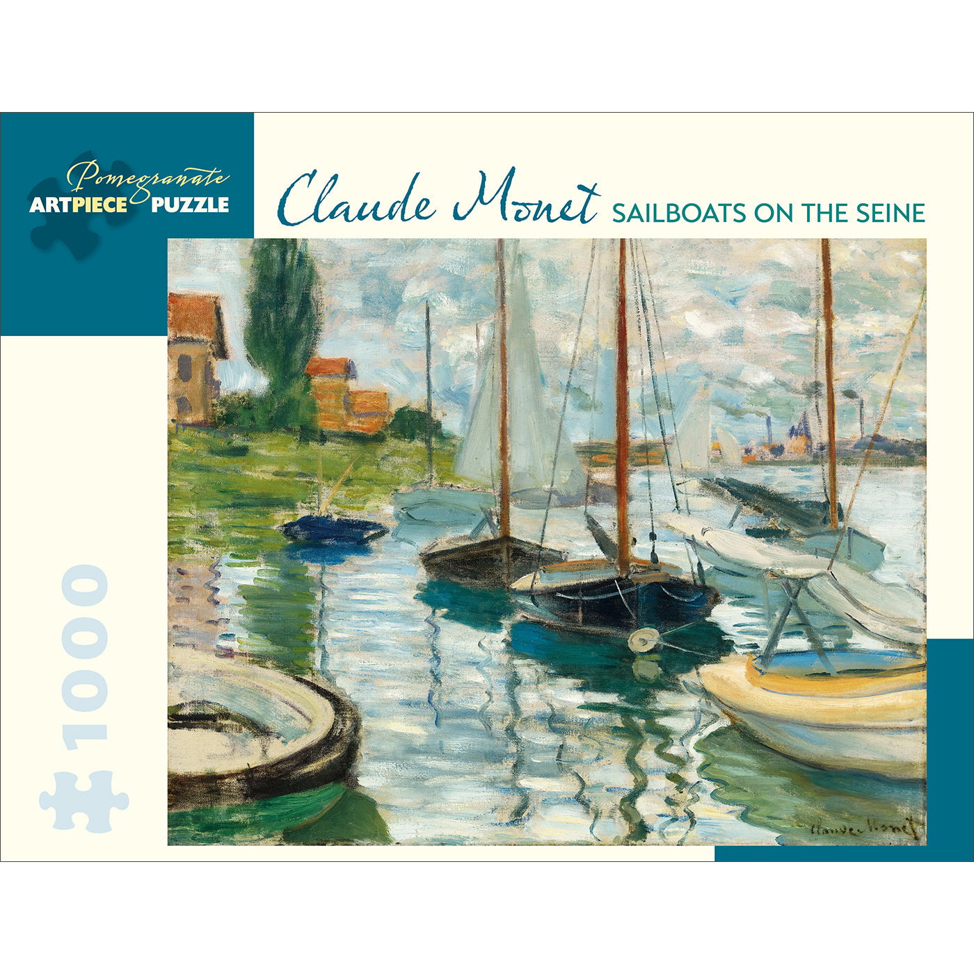 Monet's Sailboats on the Seine Puzzle - 1,000 Pieces
