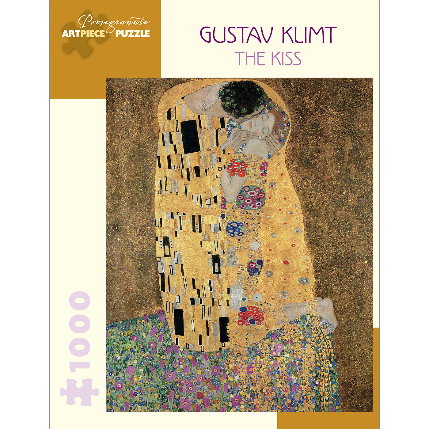 Gustav Klimt's <i>The Kiss</i> Puzzle - 1,000 Pieces