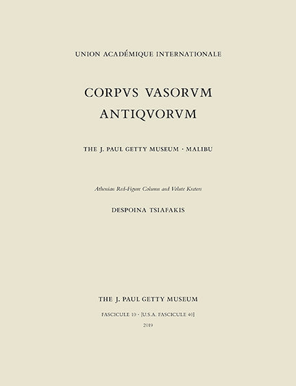 Corpus Vasorum Antiquorum, Fascicule 10: Athenian Red-Figure Column and Volute  | Getty Store