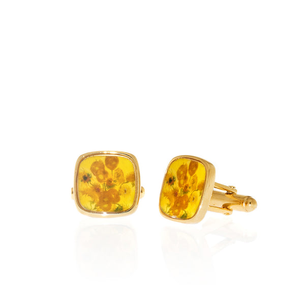 Van Gogh Sunflowers Cuff Links