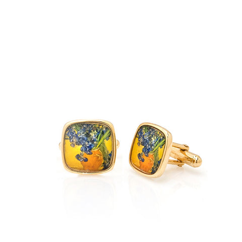 Van Gogh Irises Cuff Links