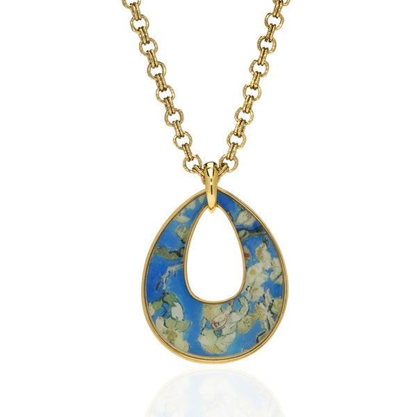 Van Gogh Almond Blossom Open Drop Necklace