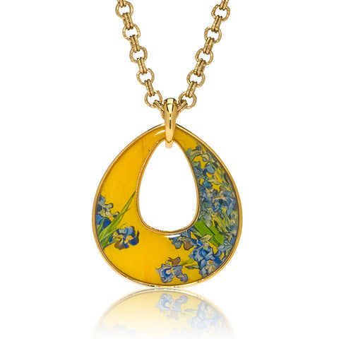 Van Gogh Irises Open Drop Necklace