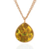 Van Gogh Sunflowers Teardrop Necklace