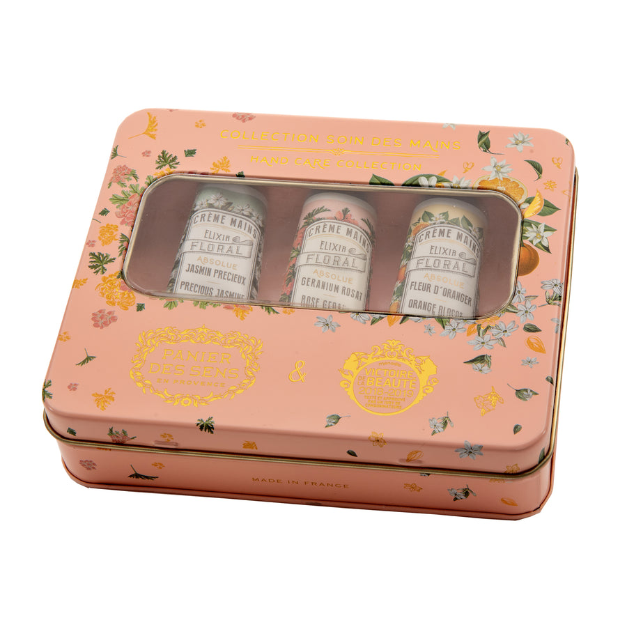 Floral French Hand Cream - Set of 3