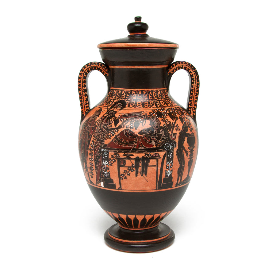 Greek Belly Amphora Vase - Herakles