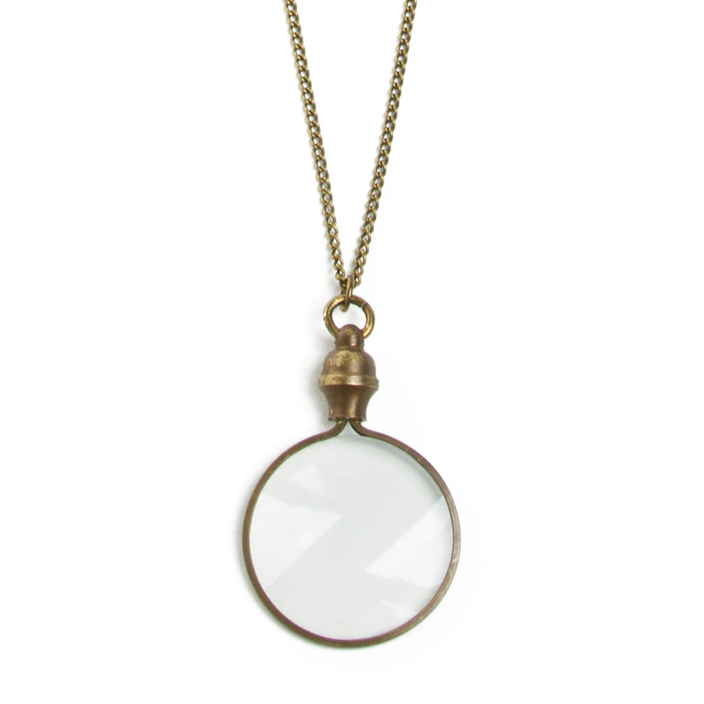Antiqued Monocle Necklace