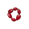 Red Pebble Stretch Bracelet