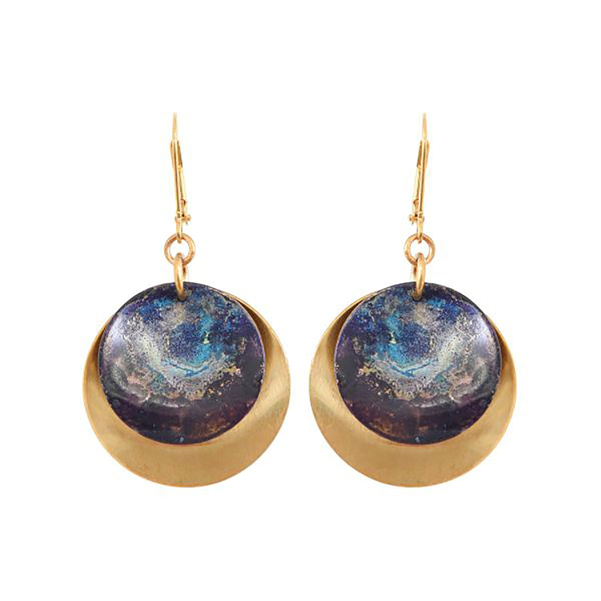 Painted Disc Earrings | Getty Store