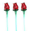 Single Art Glass Rose - Red