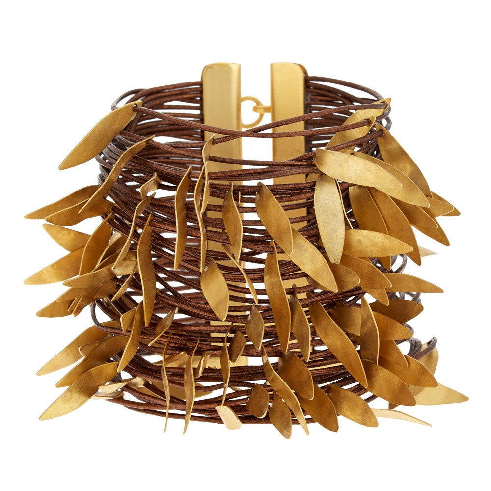 Layered Leaves Cuff Bracelet | Getty Store
