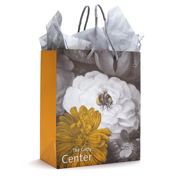 Getty Gift Bag and Tissue- Side view of bag with tissue | Getty Store