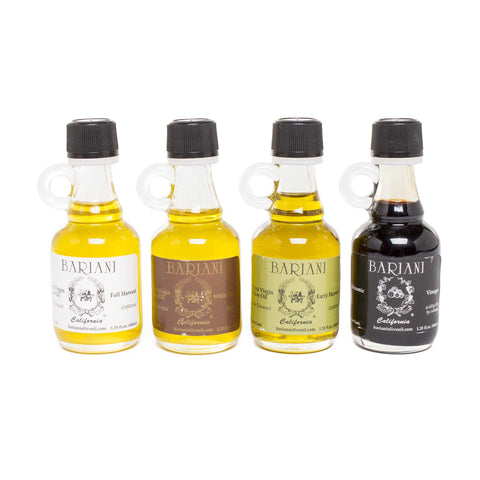 Bariani Extra Virgin Olive Oils and Balsamic Vinegar - Boxed Taster Set