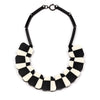 Double Pattern Collar Necklace