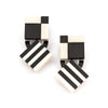Checker Stripe Drop Earrings