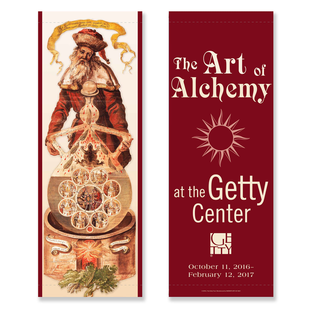 Getty Exhibition Banner - The Art of Alchemy