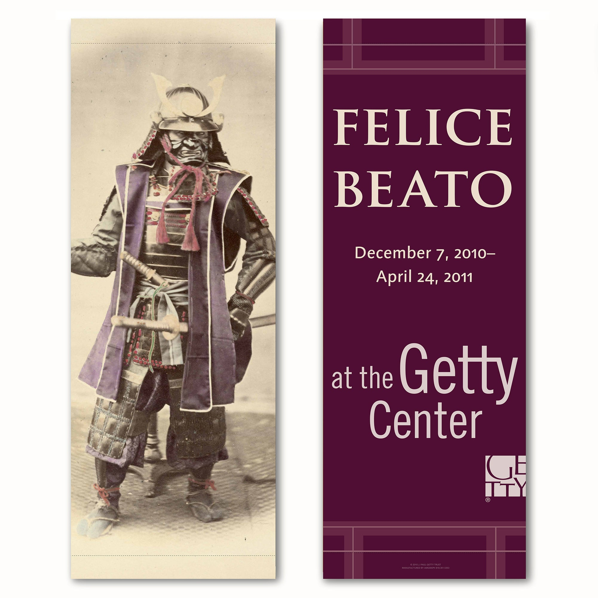 Getty Exhibition Banner (set of 2)-Felice Beato: A Photographer on the Eastern Road | Getty Store