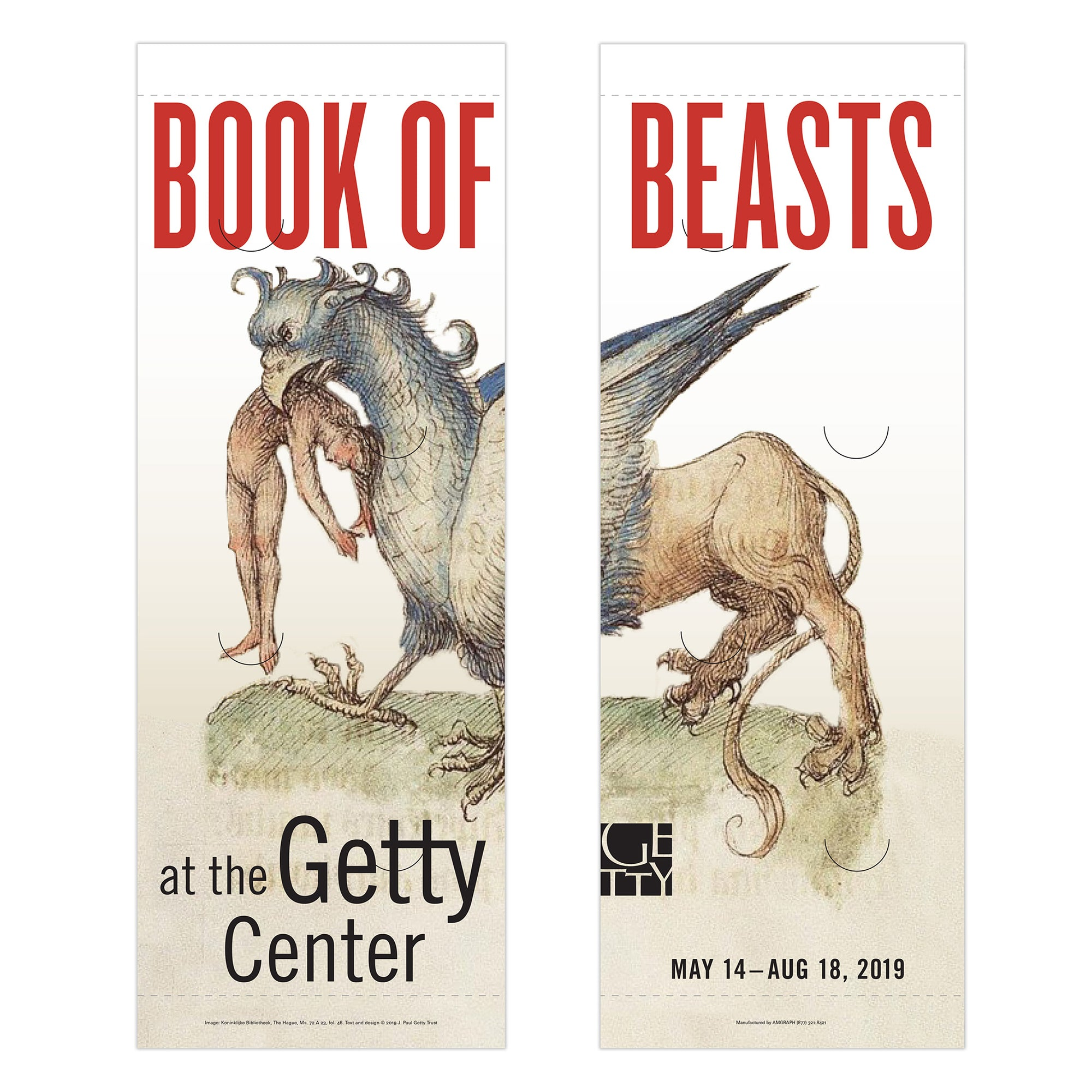 Getty Exhibition Banner (set of 2)-Book of Beasts: The Bestiary in the Medieval World | Getty Store