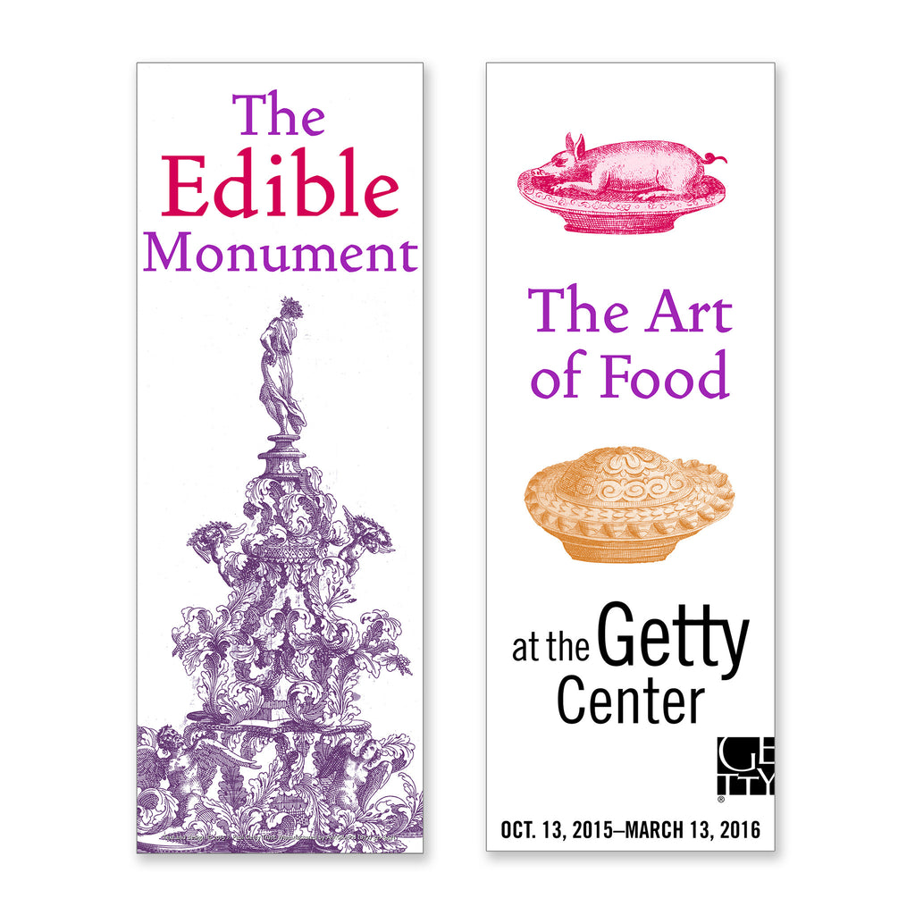 Getty Exhibition Banner - The Edible Monument