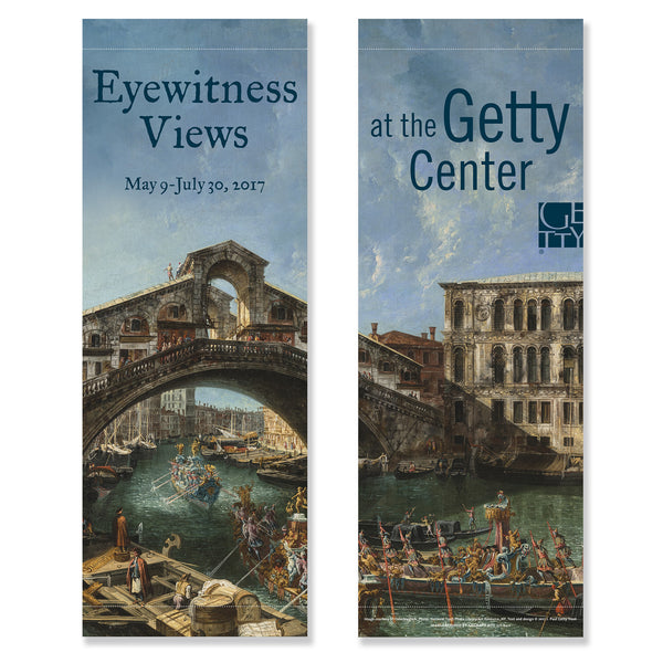 Getty Exhibition Banner (set of 2) - Eyewitness Views: Making History in Eighteenth-Century Europe