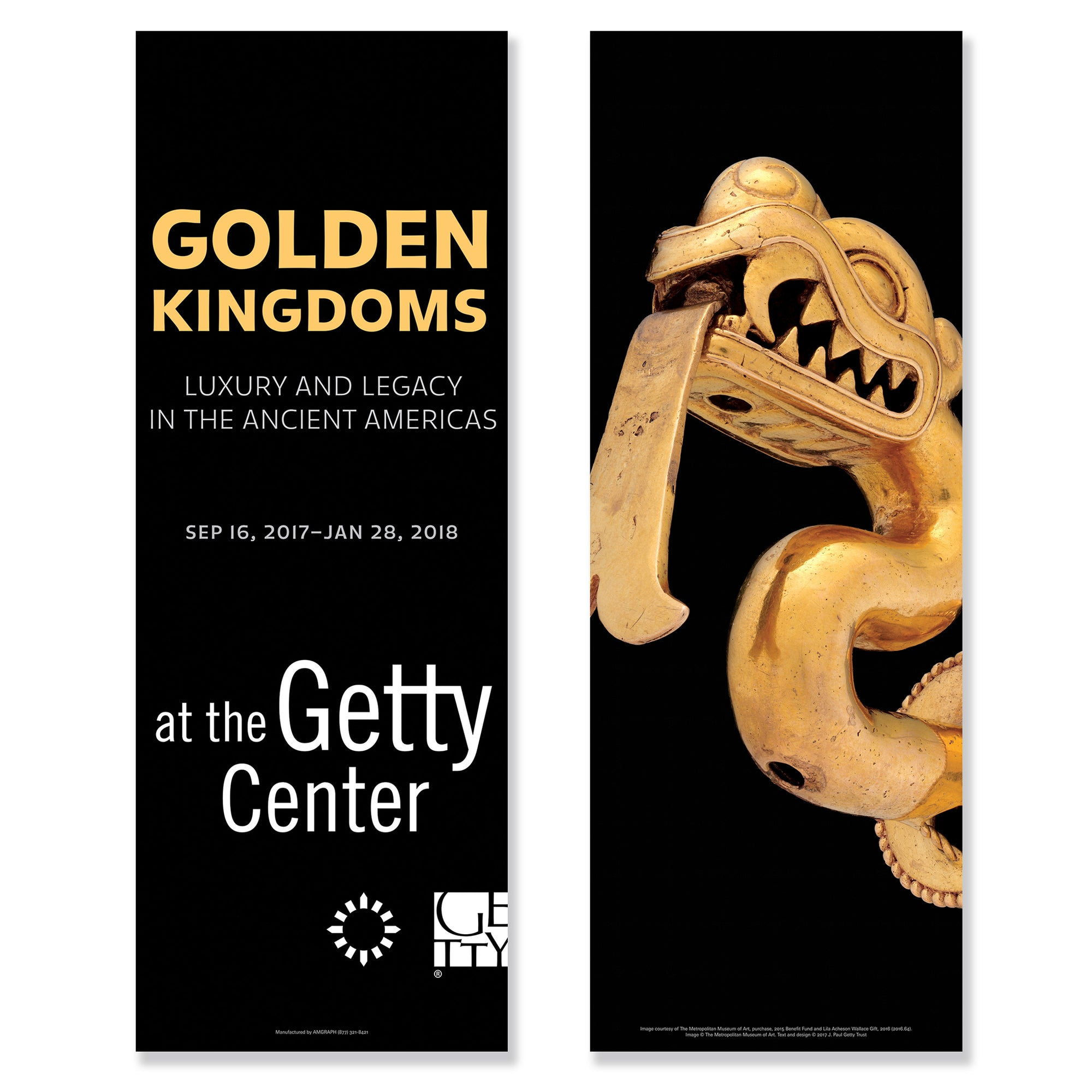 Getty Exhibition Banner - Golden Kingdoms: Luxury and Legacy in the Ancient Americas - Gold Serpent