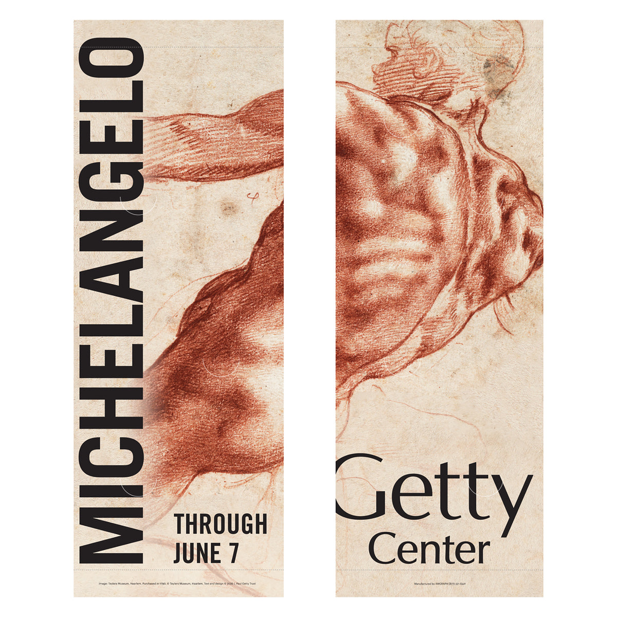 Getty Exhibition Banner (set of 2)-Michelangelo | Getty Store
