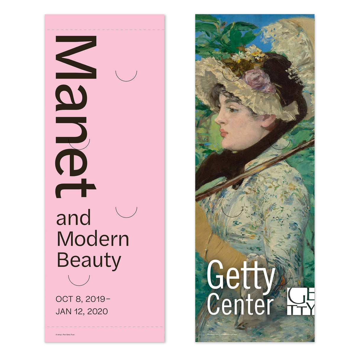 Getty Exhibition Banner (set of 2)-Manet and Modern Beauty | Getty Store
