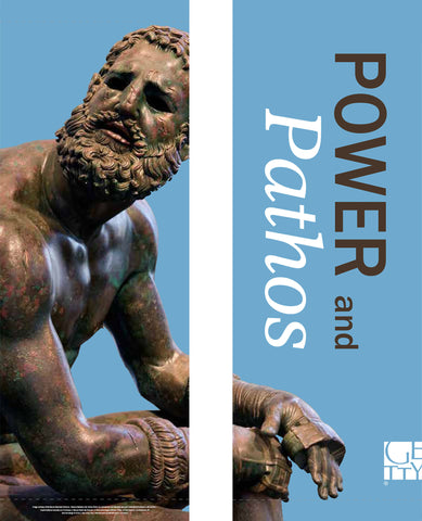 Getty Museum Banner (set of 2) - Power and Pathos: Bronze Sculpture of the Hellenistic World