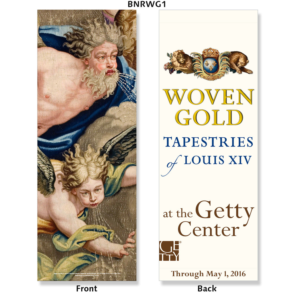Getty Exhibition Banner - Woven Gold: Tapestries of Louis XIV
