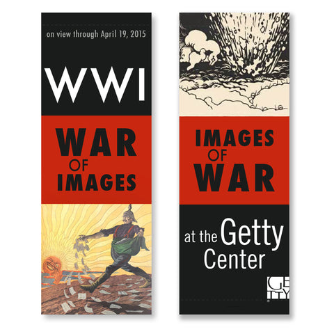 Getty Museum Banner (set of 2) - World War I: War of Images, Images of War