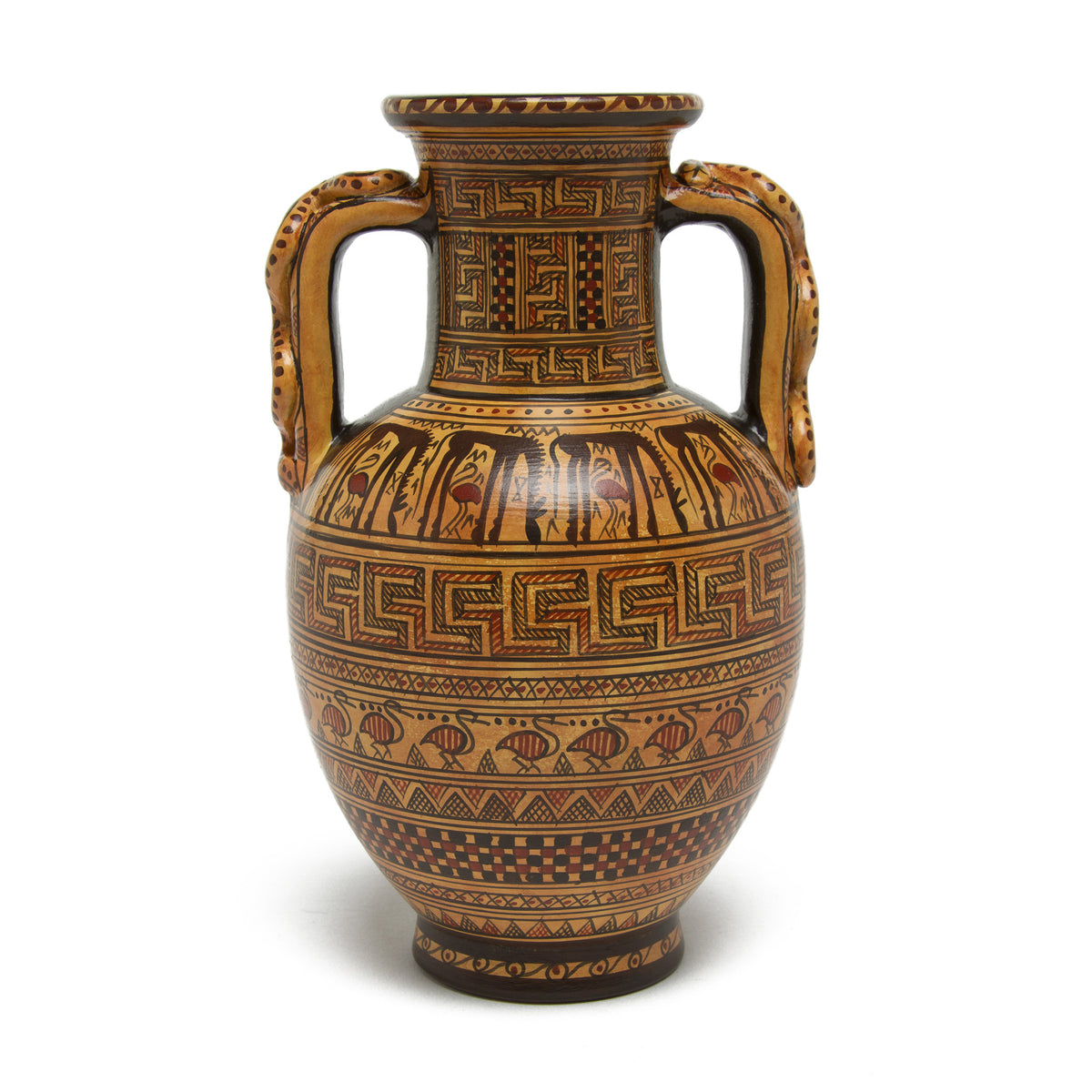Greek Amphora Vase-Geometric Pattern | Getty Store