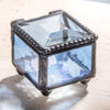 Blue Glass Jewelry Box