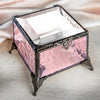 Rose Glass Jewelry Box