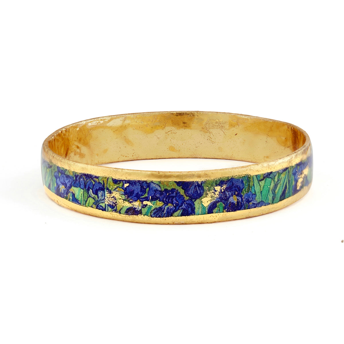 Van Gogh Irises Gold Leaf Bangle