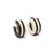 Stripe Hoop Earrings | Getty Store
