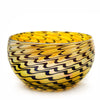 Vizzusi Art Glass Bowl - Gold Feather