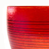Vizzusi Art Glass Bowl - Striped Apricot