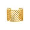 Woven Cuff Bracelet with Granulated Accents