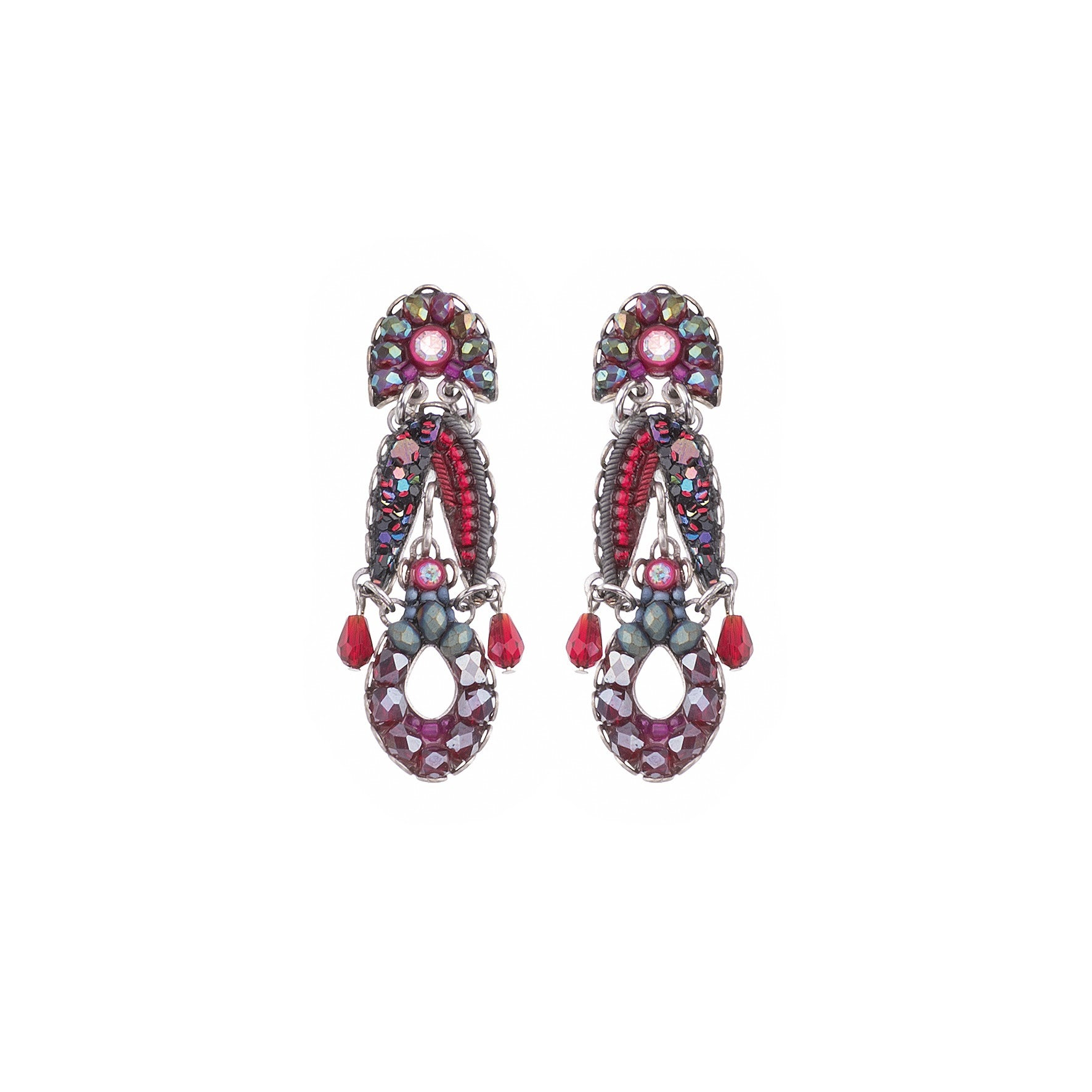 Small Crimson Flame Earrings - Ayala Bar