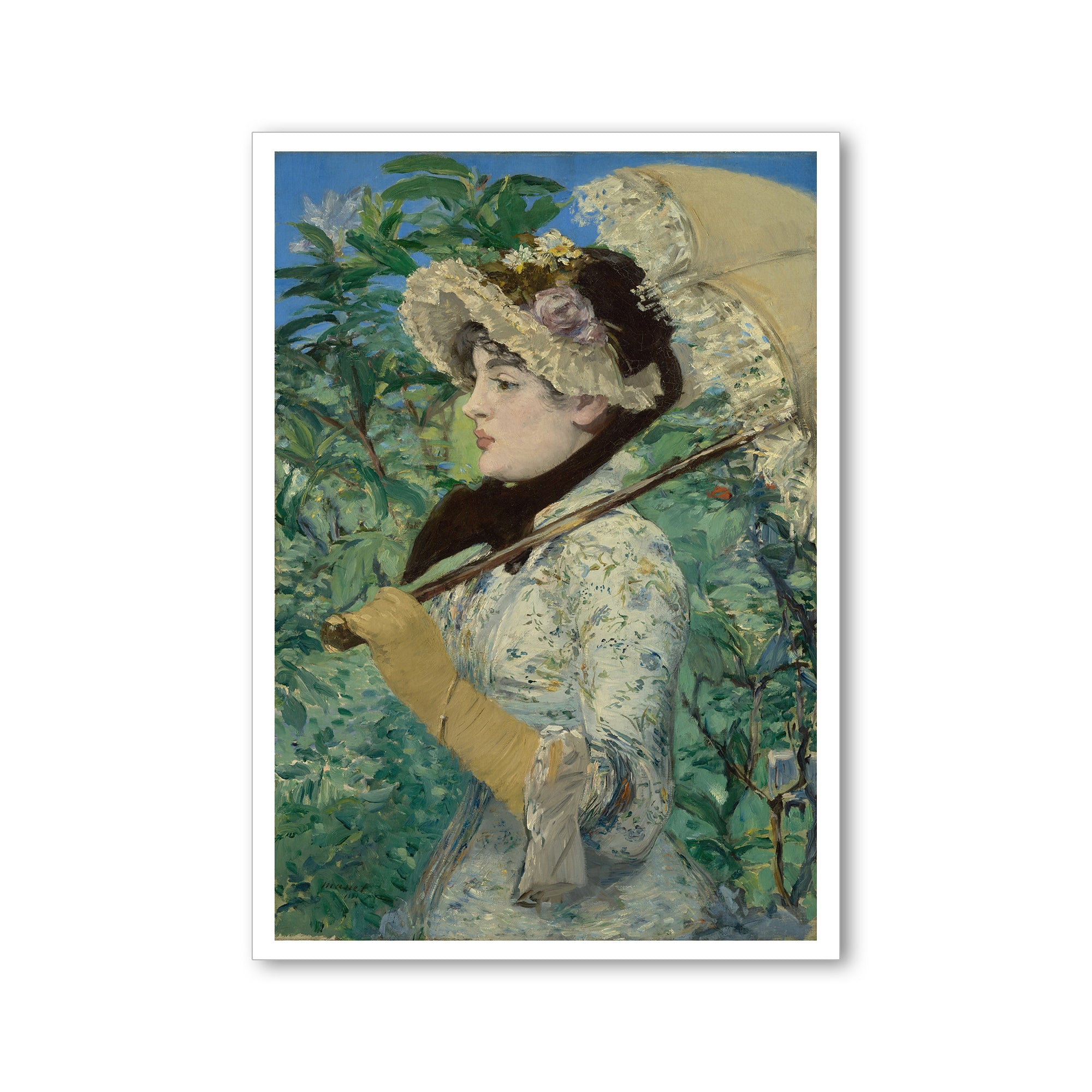 Manet- Jeanne (Spring) Postcard | Getty Store