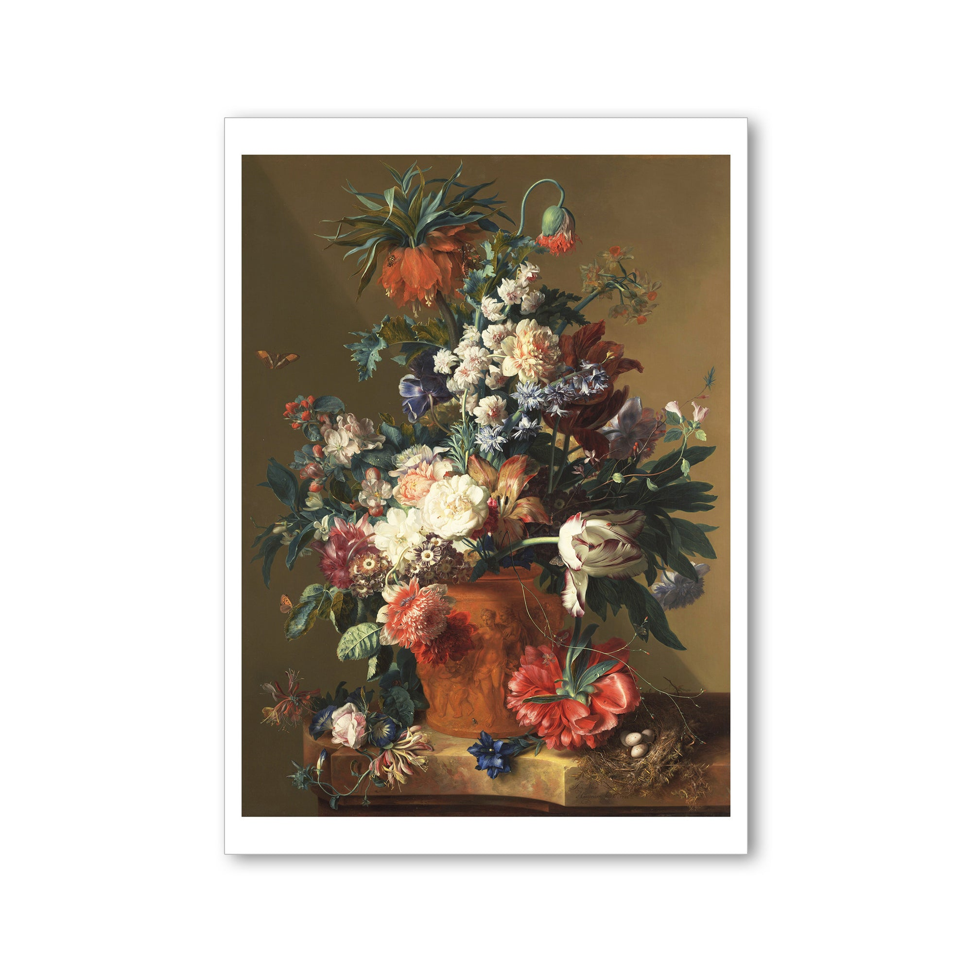 Van Huysum- Vase of Flowers- Postcard  | Getty Store