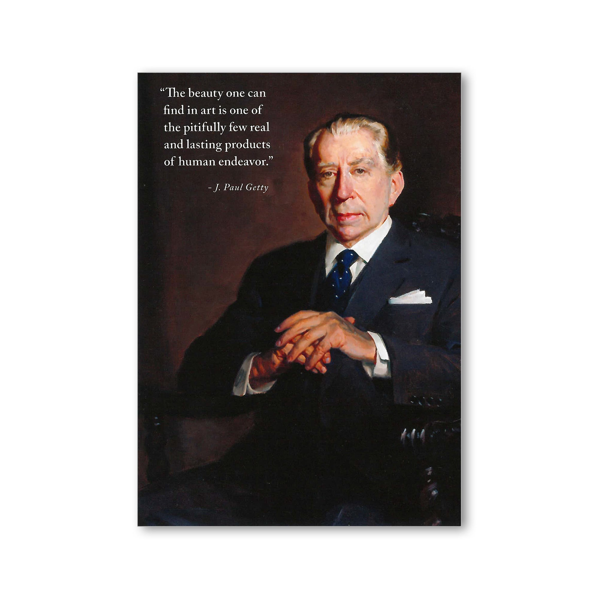 Portrait of J. Paul Getty Postcard with Getty Quote | Getty Store